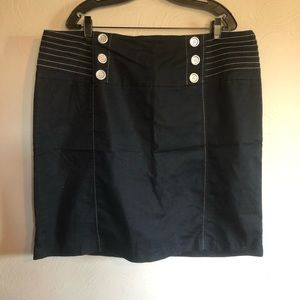 Pencil Skirt with Silver Buttons - Plus Size